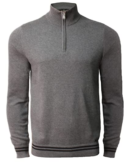 1fe455c21e Threadbare Mens Funnel Neck Jumper Knit Sweater Top Pullover 1 4 Zip  Chestnut  Amazon.co.uk  Clothing