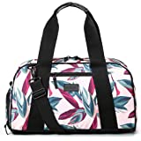 "Vooray Burner Gym Duffel, Small Gym Bag with Shoe Pocket, 16"" Compact Duffel Bag (Botanic Pink)"
