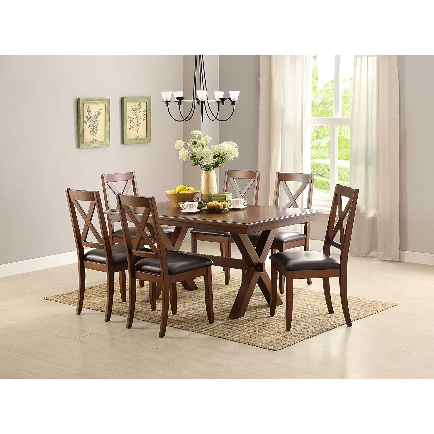 Amazon.com   Better Homes And Gardens Maddox Crossing Dining Table, Brown    Tables