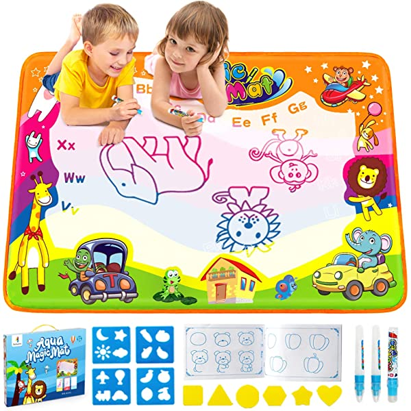- Amazon.com: Betheaces Water Drawing Mat Aqua Magic Doodle Kids Toys Mess  Free Coloring Painting Educational Writing Mats Xmas Gift For Toddlers Boys  Girls Age Of 3,4,5,6,7 Year Old 34.5