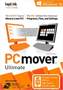Laplink PCmover Ultimate 10 with USB 3.0 Transfer Cable - 1 Use
