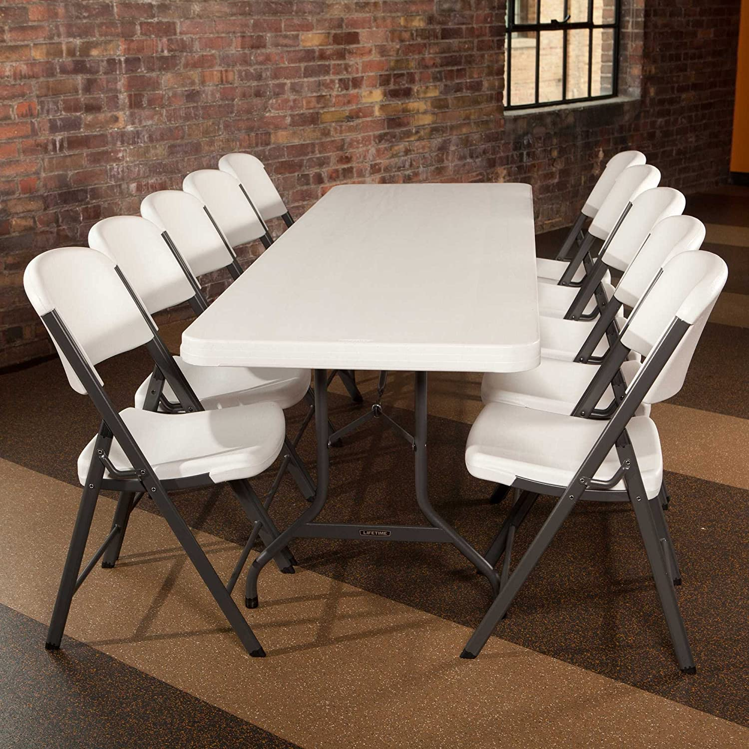 Amazon Lifetime Utility Table Pack of 4 Tables Patio Lawn