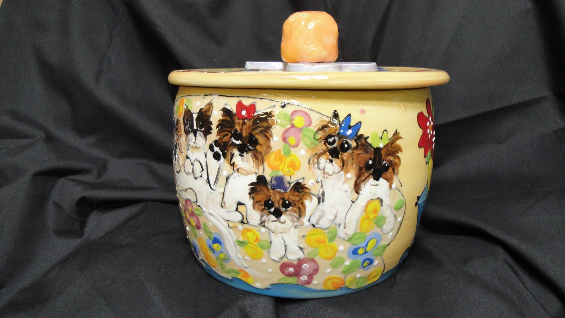 Biewers Treat Jar/Cookie Jar. Personalized at no Charge. Signed by Artist, Debby Carman.