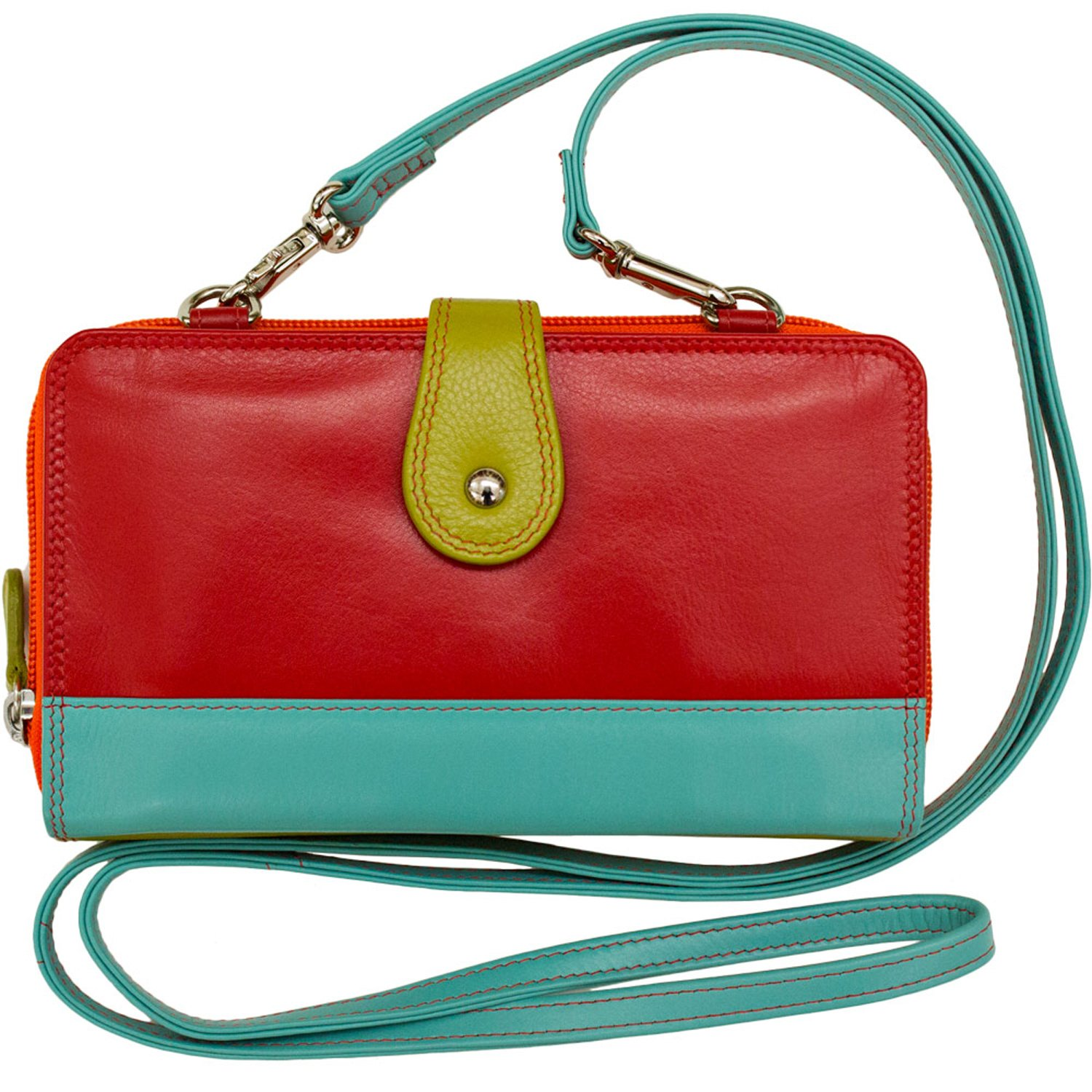 ili Leather Smartphone Crossbody Wallet with RFB (Citrus Combo)
