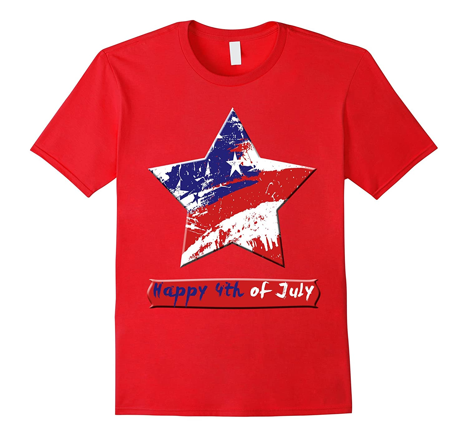 Happy 4th Of July Independence T-shirt-Art