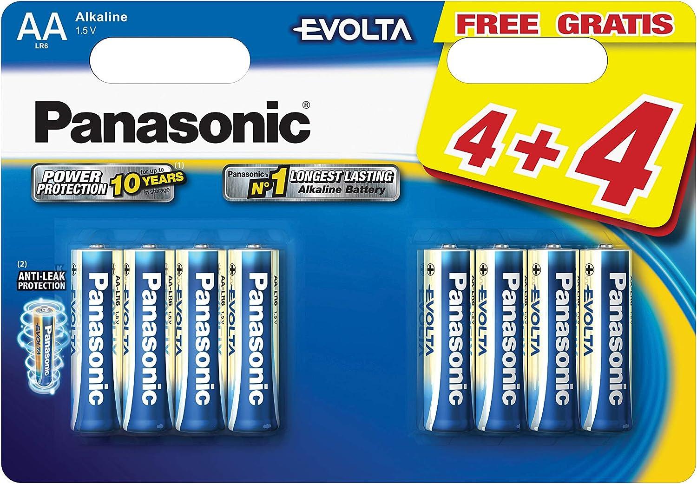 Panasonic PANLR6EGE4BLI - Pilas alcalinas AA, pack de 8 unidades ...