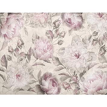 Fototapete Blumen Pfingstrosen 396 x 280 cm - Vlies Wand ...