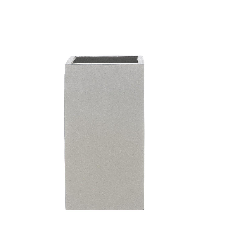 Stonefiber Pot quadratisch hoch H-XS grau (30 x 30 cm, h 60 cm)