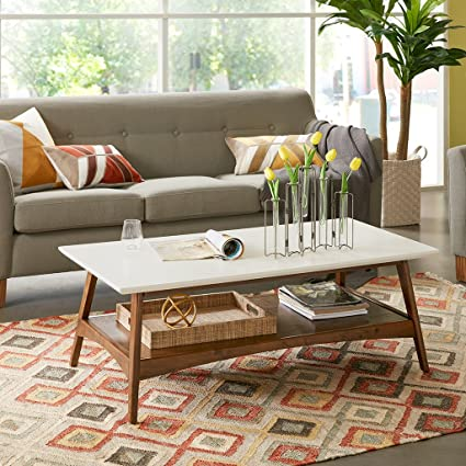 Parker Coffee Table White/Pecan See Below