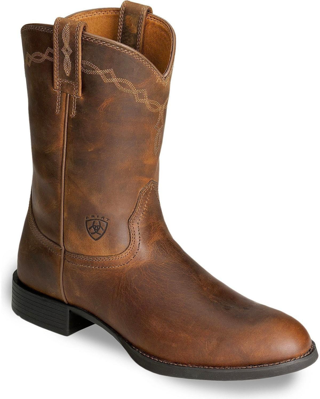 ARIAT Men's Heritage Roper Cowboy Boot Distressed 10.5 B (M) US