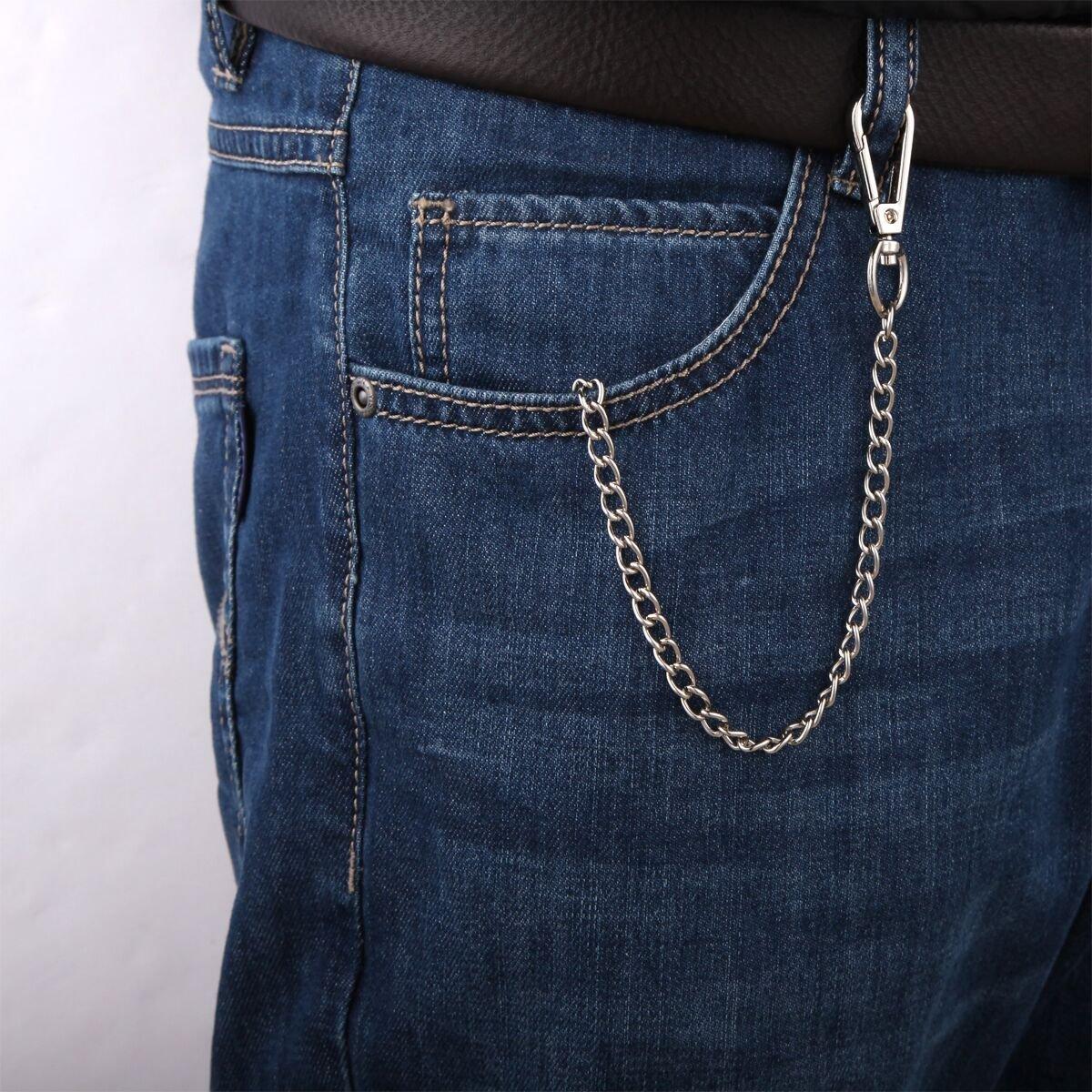 EVELTEK Metal Llaveros con Cadena Pantalones Hombres Monedero de la Cadena Dominante (KE-10A)