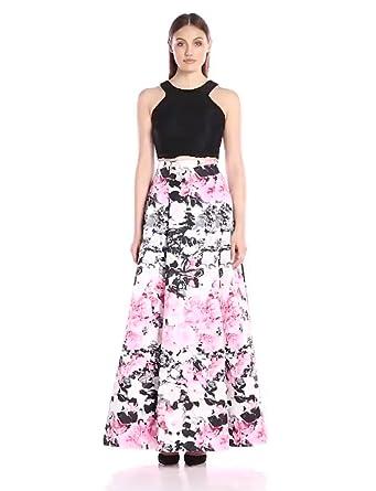 d7425655e925 Xscape Women's 2 Piece Floral Ballgown W/Lace Top at Amazon Women's ...