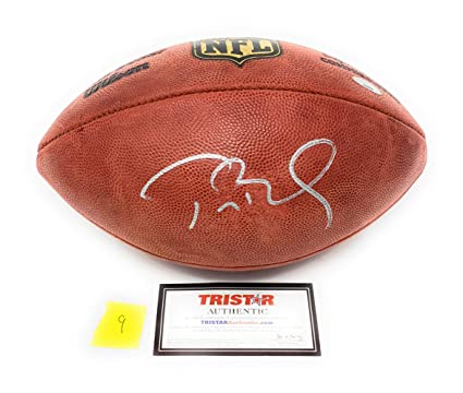 32eb926b6 Tom Brady New England Patriots Signed Autograph NFL Authentic Duke Football   9 Tristar Authentic Certified