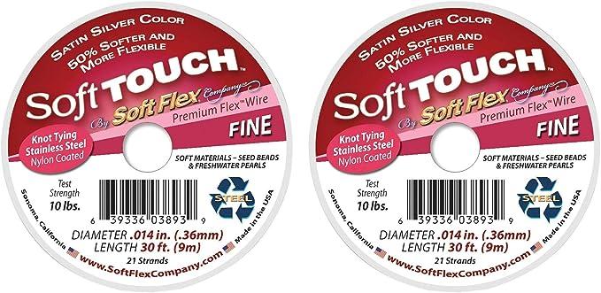 Medium by Soft Flex 30 Feet Spool Soft Touch Premium Beading Wire-0.019 Inch