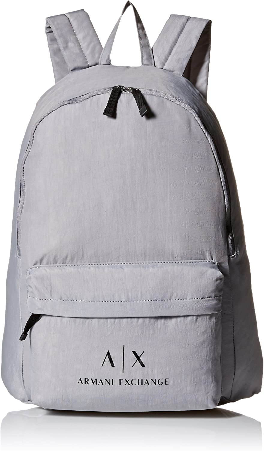 Armani Exchange Men s Crinkle Nylon Backpack, alloy alloy, UNI