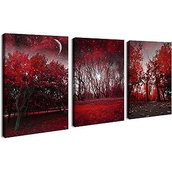 Amazon.com: Wieco Art The Cloud Tree Wall Art Oil PaintingS Giclee ...
