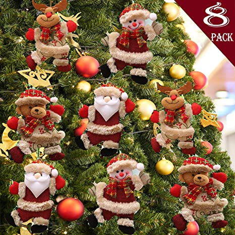 AS/_ CHRISTMAS TREE HANGING DECOR PENDANT SNOWMAN SANTA CLAUS ELK BEAR ORNAMENT S