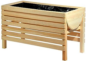 Dobar 58196e Dekoratives Hochbeet Aus Holz Kiefer 100 X 45 X 60 Cm