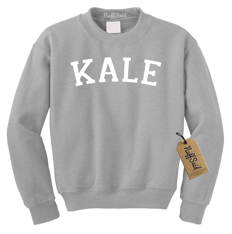 c5b6a376950117 Amazon.com: NuffSaid Kale Crewneck Sweatshirt - Unisex Crew Premium  Quality: Clothing