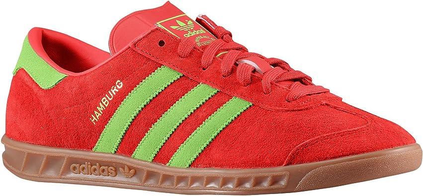 ordenar cada vez Prescripción  Amazon.com: adidas Originals Hamburgo '70s d65191 rojo/Guacamayo/oro/Gum  piel de ante zapatos de hombre, 11 D (M) US: Shoes