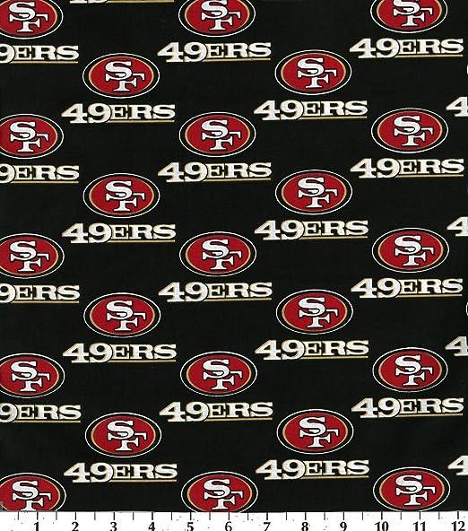 Amazon.com: Cotton NFL San Francisco 49ers Football Print Cotton Fabric By  The Yard