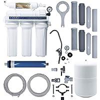 iFONT Equipo de Ósmosis Inversa Domestica iOSMO | Ósmosis Inversa 5 Etapas + 2 Recambio Filtros | Filtros y Membrana…