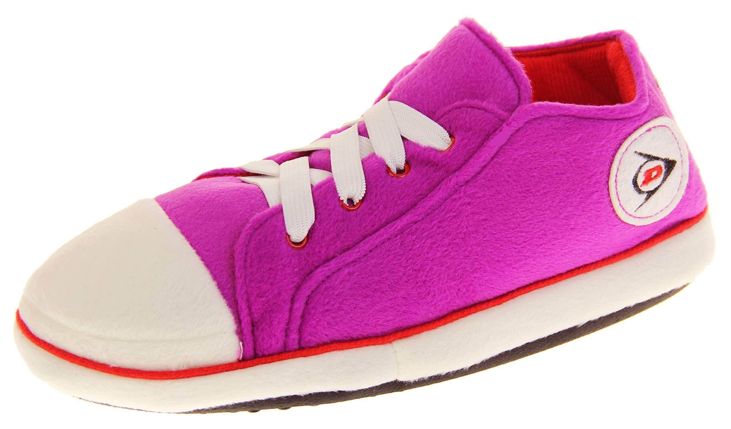 Dunlop Womens Hi Top Trainer Boot Shoe Slippers