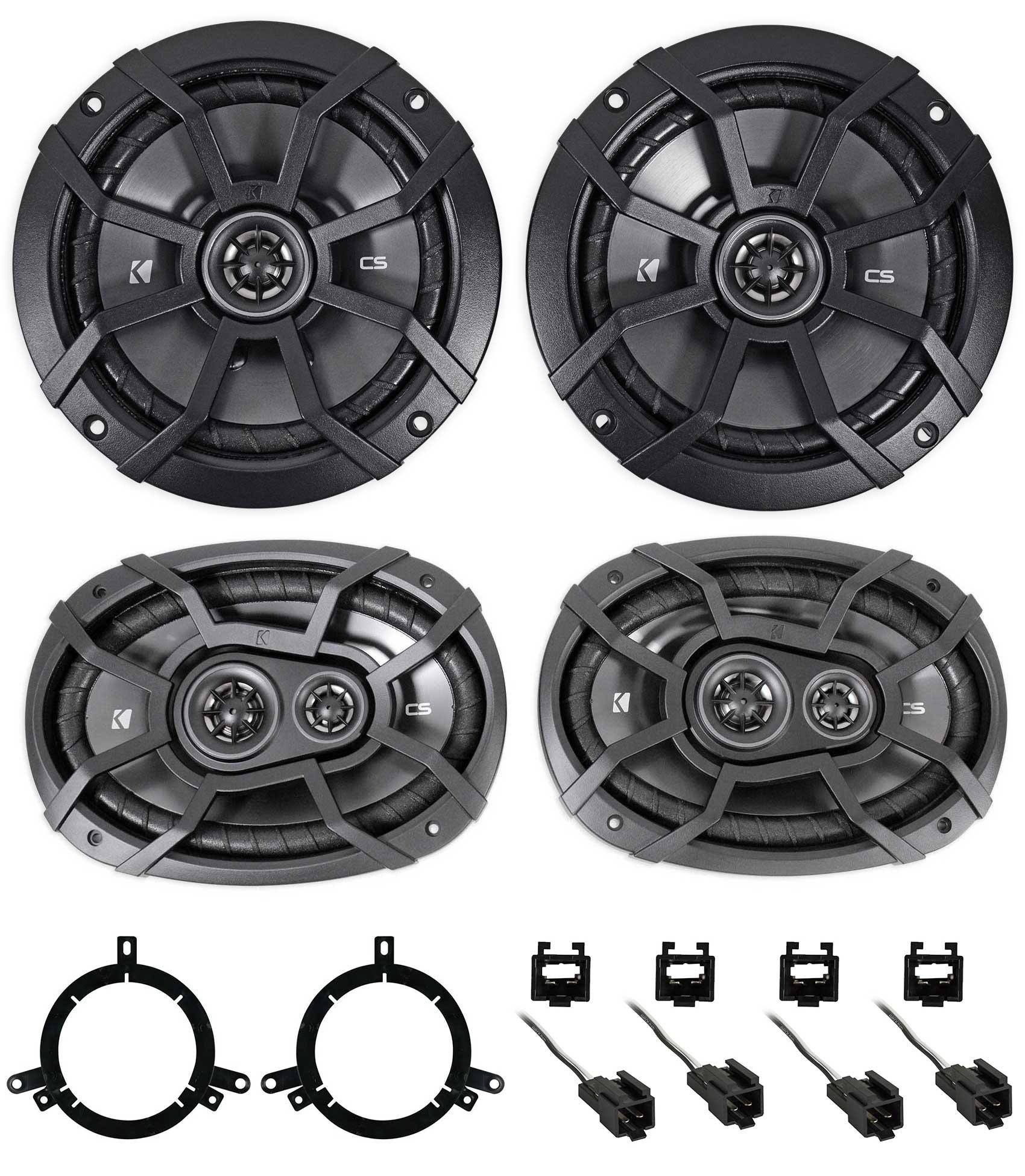 1999-2004 Chrysler 300M Kicker Front + Rear Factory Speaker Replacement Kit
