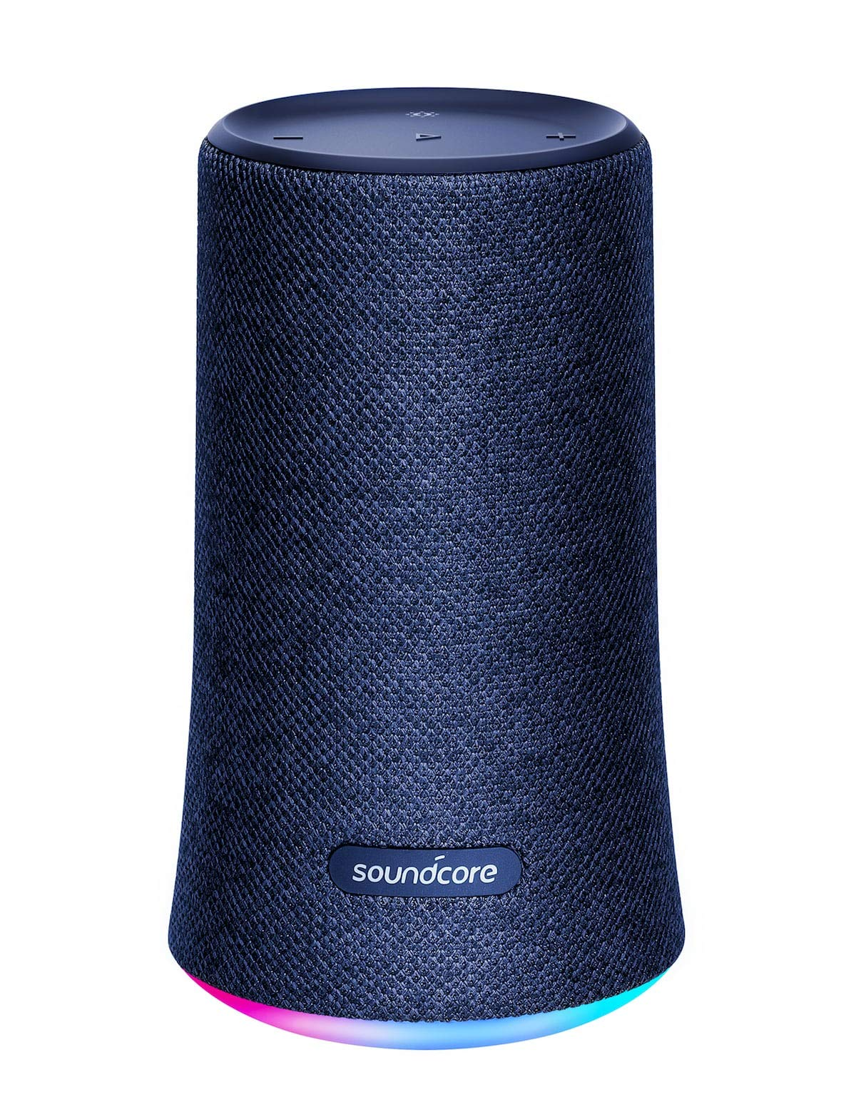 Bluetooth Speaker, Soundcore Flare Wireless Bluetooth Speaker by Anker, Portable Party Speaker with 360° Sound, Enhanced Bass & Ambient LED Light, IP67 Dustproof & Waterproof and 12-hour Batter - Blue
