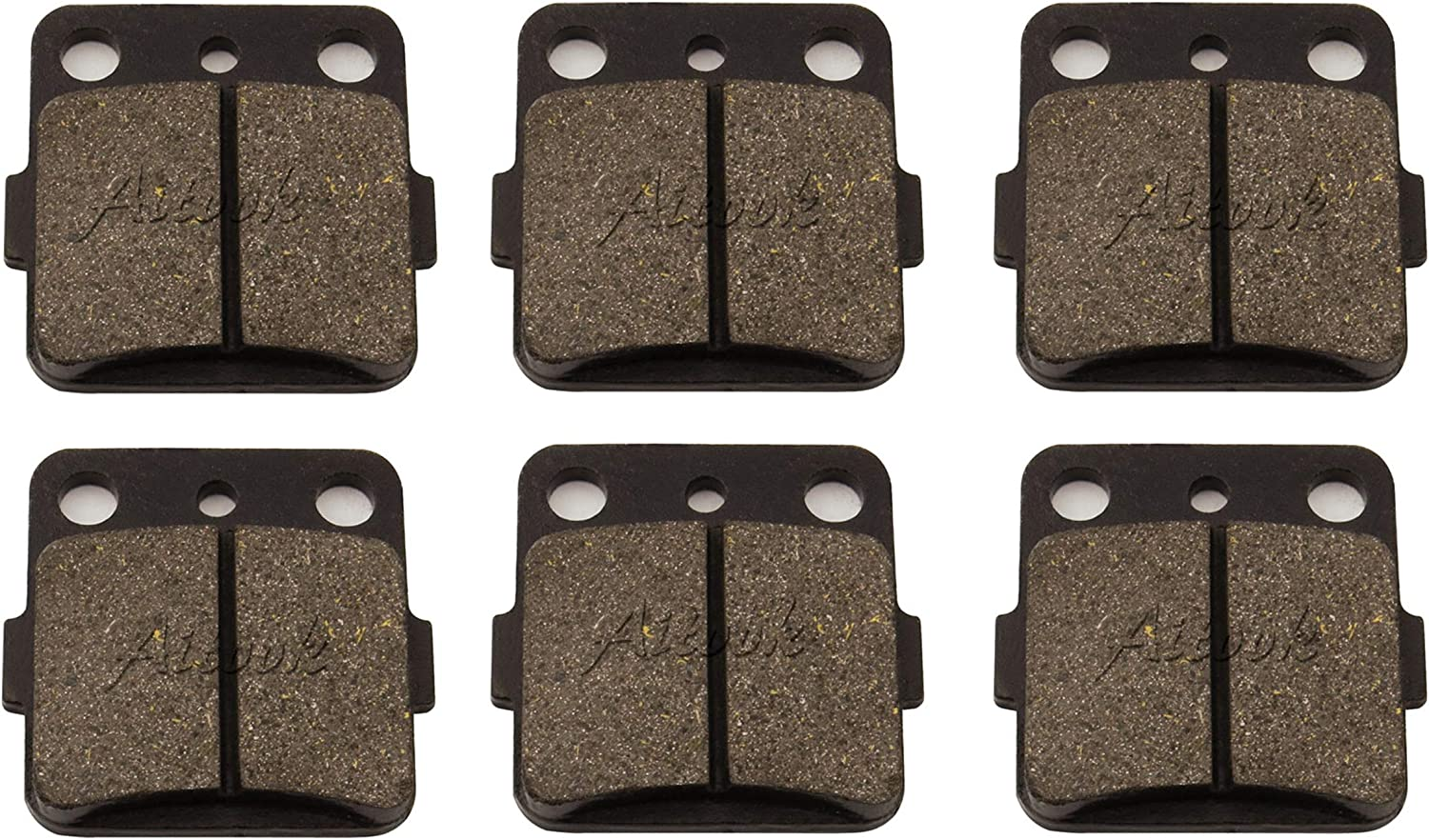 Brake Pads Rear Caliper Hanger Slide Pins Compatible with Honda 1993-09 Sportrax TRX 300EX 300X
