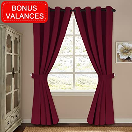 Attirant H.VERSAILTEX Blackout Window Treatment Thermal Insulated Curtains Drapes  For Bedroom Solid Grommet Blackout Curtains