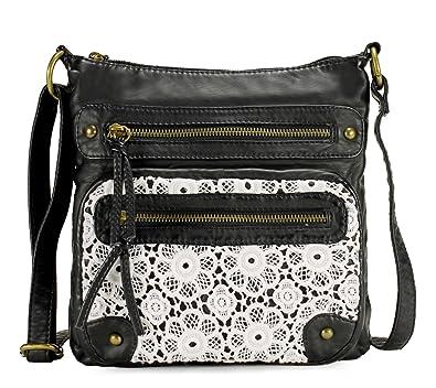13ffcc118a0b7 Scarleton Chic Lace Style Crossbody Bag H191201 - Black