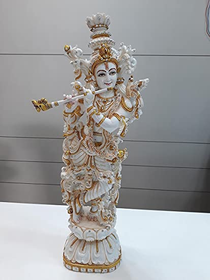 D  Deepak Associate 29 Inches Large Krishna Statue Hindu God