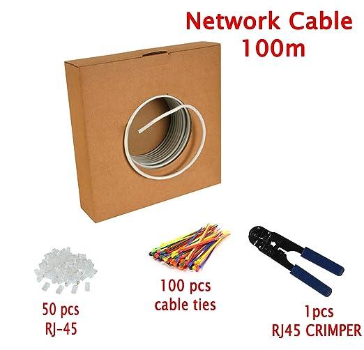 270 opinioni per Multi-Cables-100M CAT5E 24 AWG solido FTP Cavo di rete Ethernet- Con pinza per