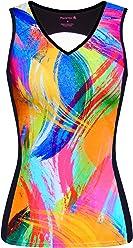 8e39ba166 FloraVelo Women s Color Canvas Sleeveless Cycling Jersey