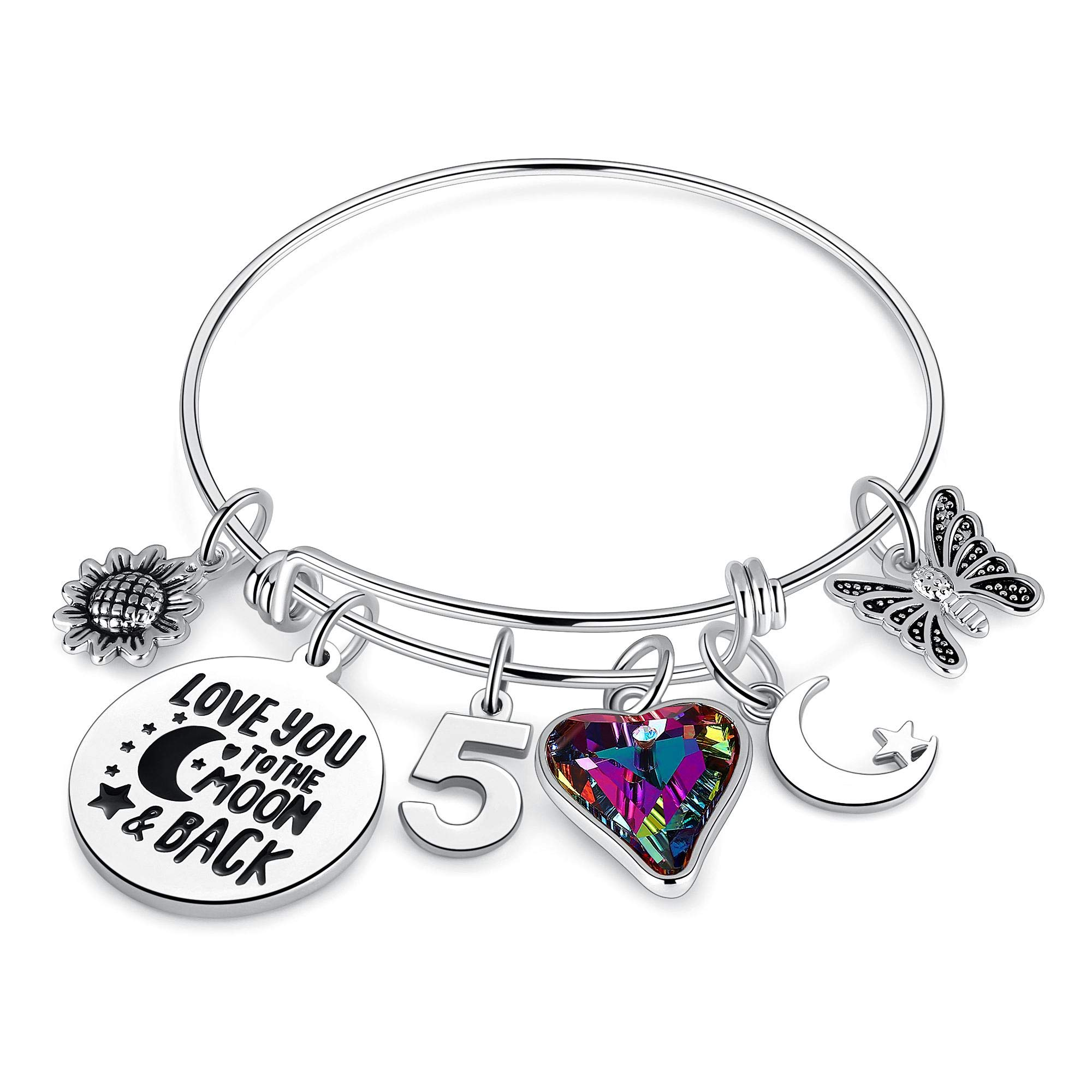 Birthday Gifts for Women Girls Bracelet Birthday Charm Bracelets 10th 20th 30th