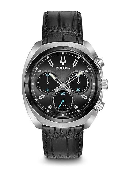 Bulova Reloj Cronógrafo para Hombre de Cuarzo con Correa en Cuero 98A155: Amazon.es: Relojes