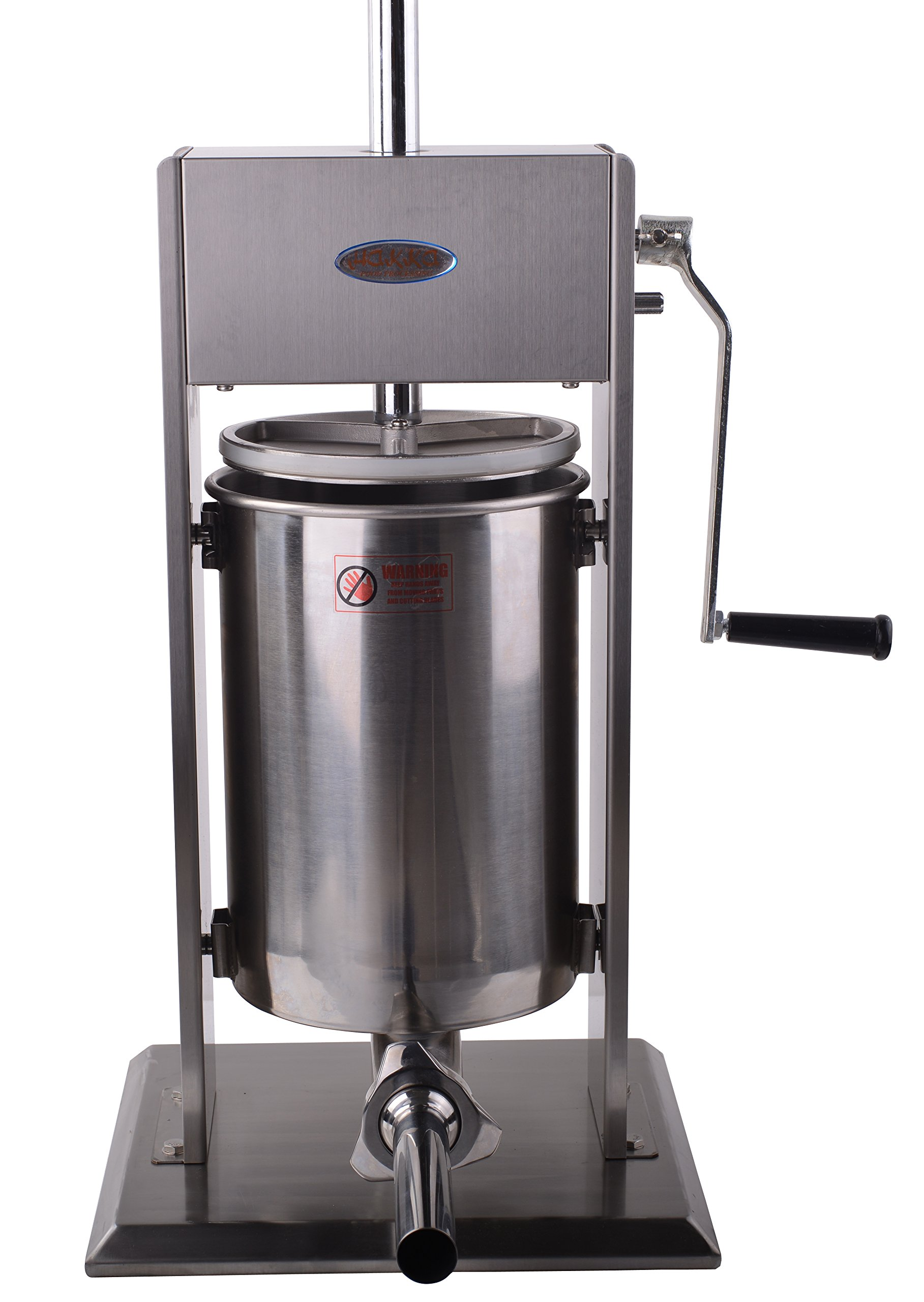 Hakka Sausage Stuffer 2 Speed Stainless Steel Vertical Sausage Maker (32Lb / 15 Liter) by HAKKA BROTHERS