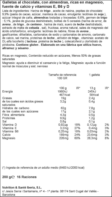 Galletas chocolate almendra gerblé 200 g - [Pack de 3]: Amazon.es: Alimentación y bebidas