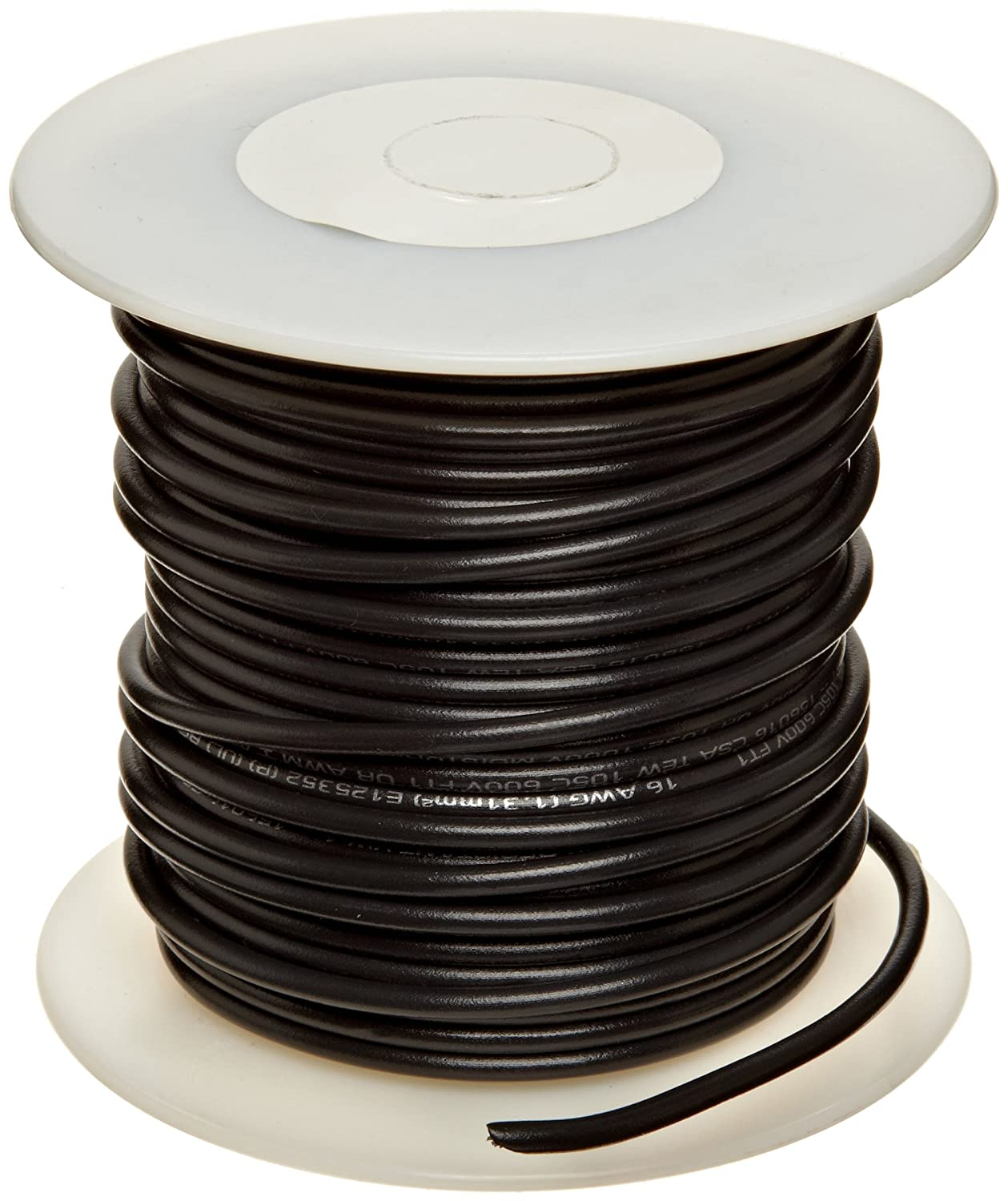 Pack of 1 Bright 18 AWG 100 Length Black UL1015 Commercial Copper Wire 0.0403 Diameter