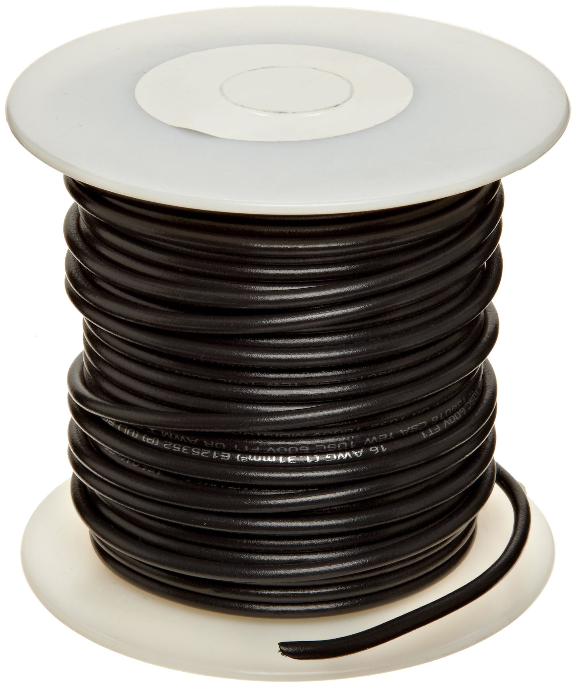 UL1015 Commercial Copper Wire, Bright, Black, 12 AWG, 0.0808'' Diameter, 100' Length (Pack of 1) by Small Parts