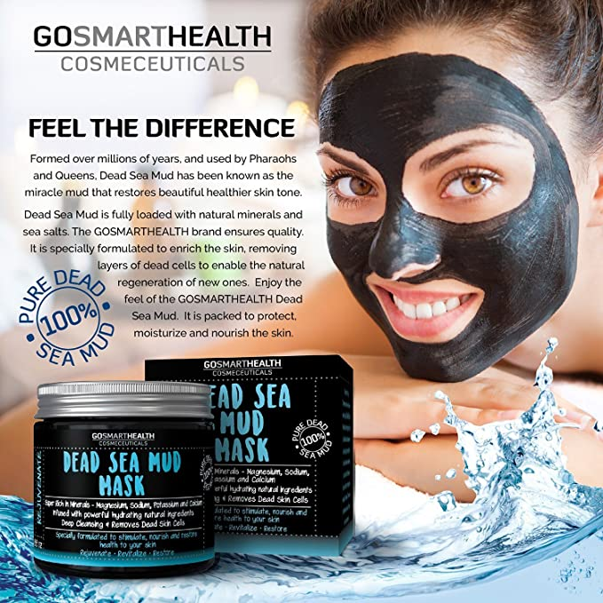 Dead Sea Mud Face Mask for Face & Body. for All Skin Types, deep Detox  Cleansing mask. Premium Grade Dead Sea Mud Mask is Rich in Minerals to Help  with Acne, Wrinkles