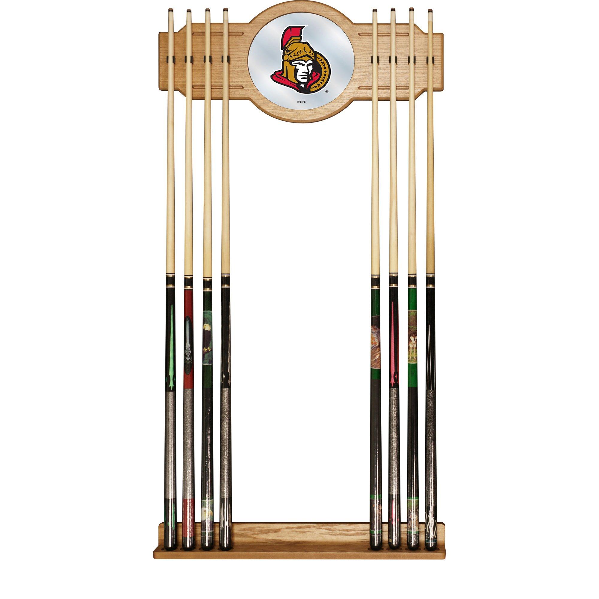 Trademark Gameroom NHL Ottawa Senators Cue Rack with Mirror