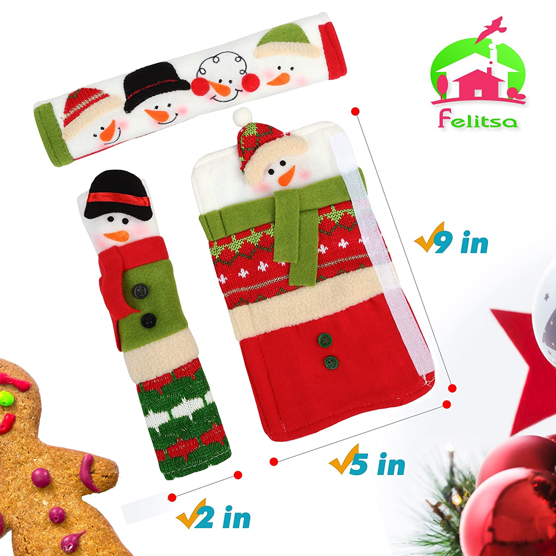 Amazoncom Snowman Christmas Decorations  Set Of 3 Kitchen Handle