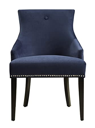 velvet dining chairs cheap crushed upholstered chair navy chrome blue black canada