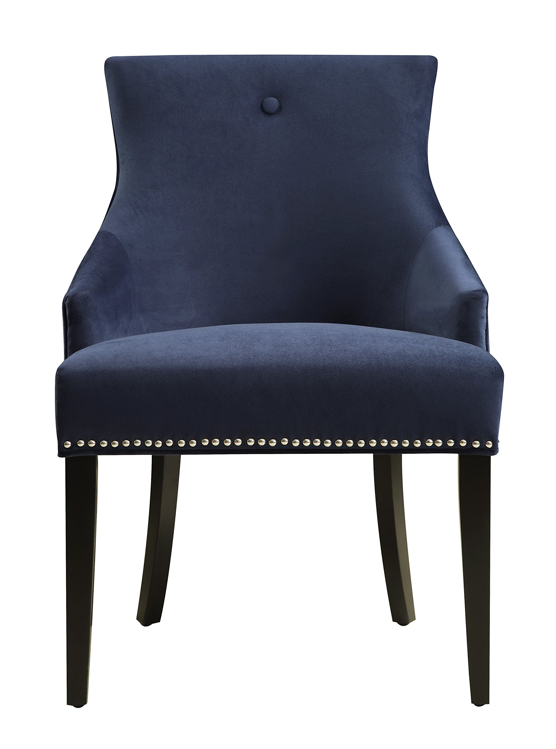 Pulaski DS-2520-900-393 Urban Accents Button Back Upholstered Dining Chair, 23.03'' X 25.2'' X 33.86'', Navy