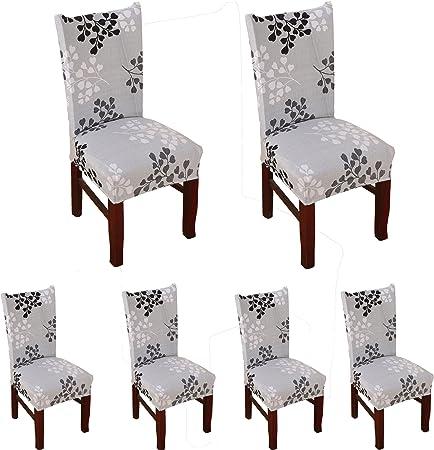 JIAN YA NA Housse de Chaise Extensible Amovible Lavable en /élasthanne pour Chaise de Salle /à Manger 1 pi/èce Black Geometry 2