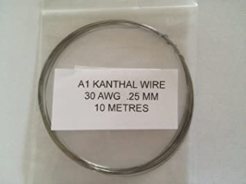 Kanthal A1 Typ Widerstand Draht – (30 AWG) 0,25 mm – 10 Meter – 29,3 ...