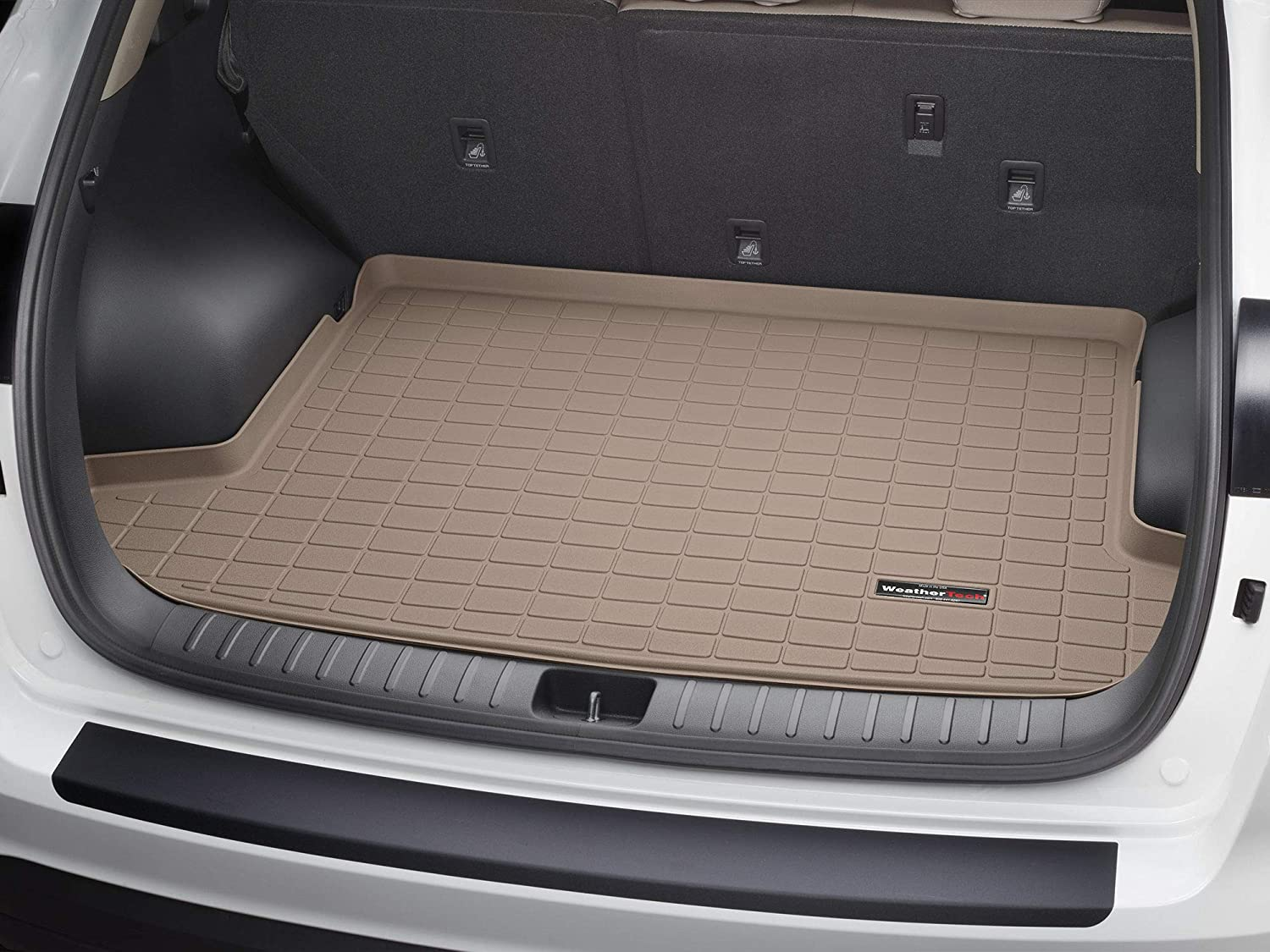 Amazon Com Weathertech Custom Fit Cargo Liners For Ford Expedition Tan Automotive