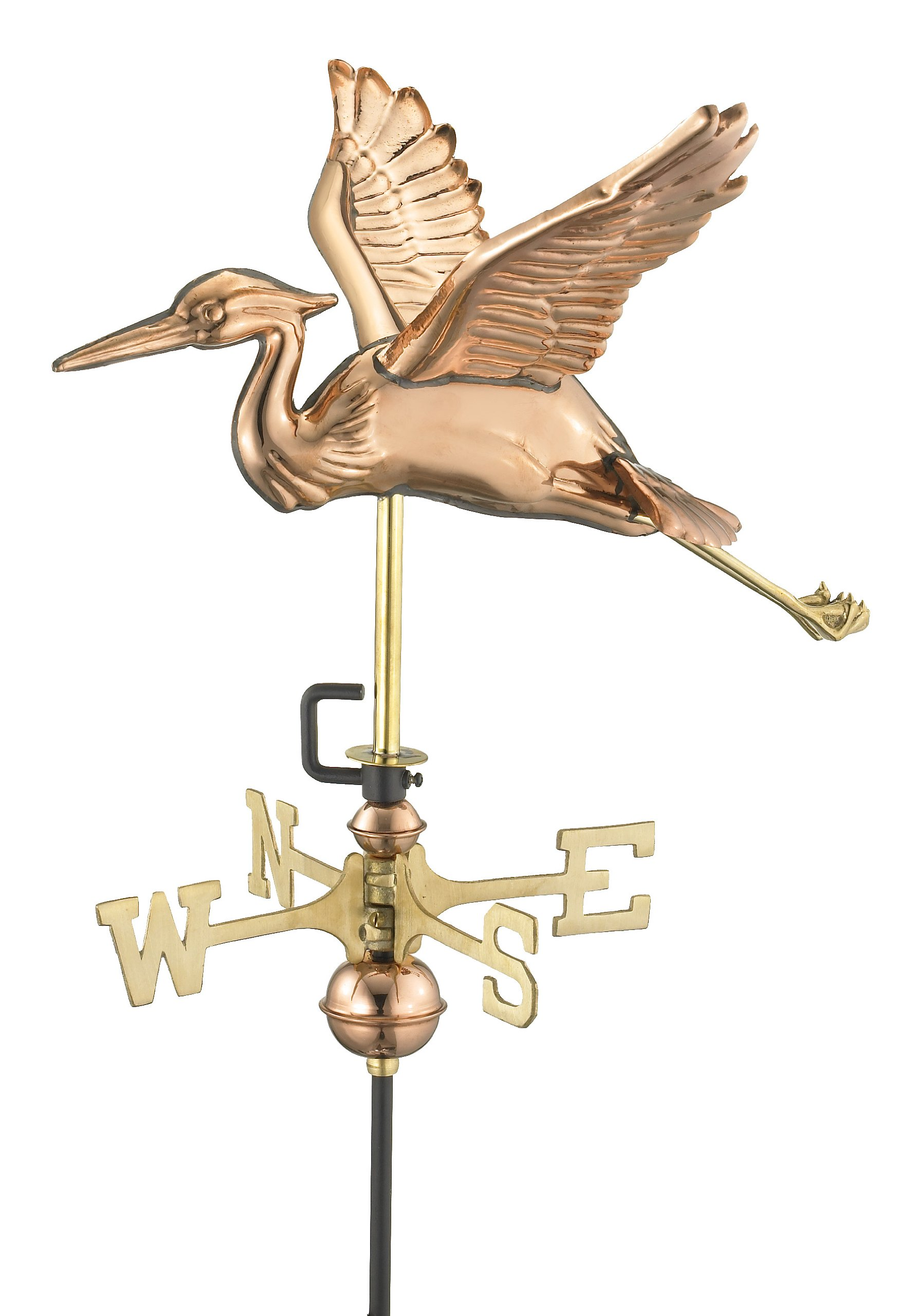 Good Directions 8805P Blue Heron Cottage Size Copper Weathervane, Polished (Discontinued)